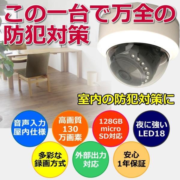 防犯カメラ ドーム  sdカード録画 屋内 家庭用   高画質 SDカードキャンペーン|andavision|02