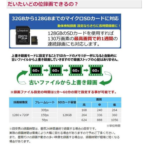 防犯カメラ ドーム  sdカード録画 屋内 家庭用   高画質 SDカードキャンペーン|andavision|05