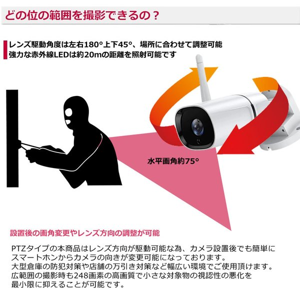 ペットカメラ 留守番  ベビーモニター  防犯カメラ 自動追跡 自動追尾 ワイヤレス WiFi   スイングカメラ AV-IPCAM02|andavision|07