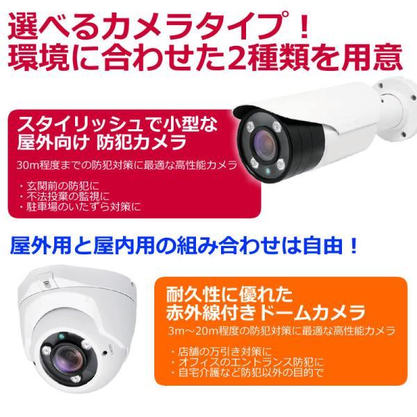 防犯カメラ 屋外 セット 監視カメラ PoD PoE カメラ4台   ドーム バレット  レコーダー 4台セット HDD1TB内蔵|andavision|05