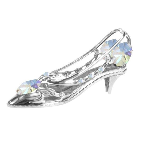 シンデレラの靴 置物 オーロラ ギフト スワロフスキー クリスタル 誕生日 プレゼント 女性 彼女 お祝い