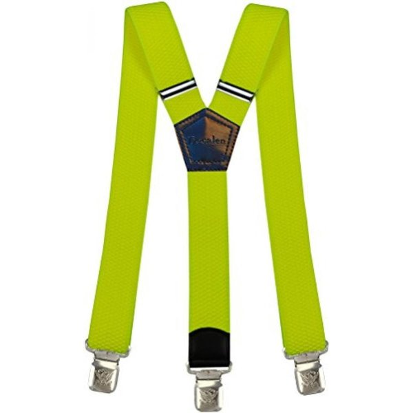 Mens braces wide adjustable and elastic suspenders Y shape with a very Blue