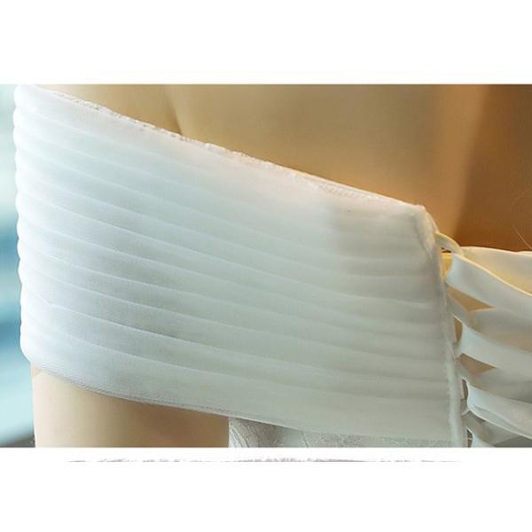ウェディングドレス 二次会 ウエディングドレス ロング 二次会ドレス パーティードレス ロングドレス 花嫁ドレス カラードレス 大きいサイズ 結婚式 白 ホワイト|anemo|09