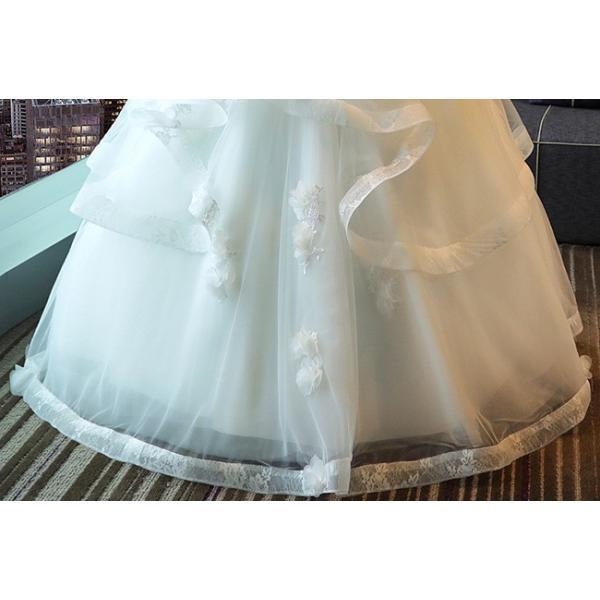 ウェディングドレス 二次会 ウエディングドレス ロング 二次会ドレス パーティードレス ロングドレス 花嫁ドレス カラードレス 大きいサイズ 結婚式 白 ホワイト|anemo|10