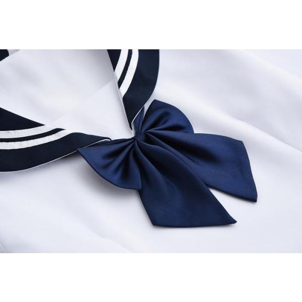 短納期 セーラー服 コスプレ コスチューム 制服コスチューム 女子校生ミニスカ 学生服 制服 パーティー 女の子スーツ 上下セット 卒業式 入学式 3点セット|anemo|09