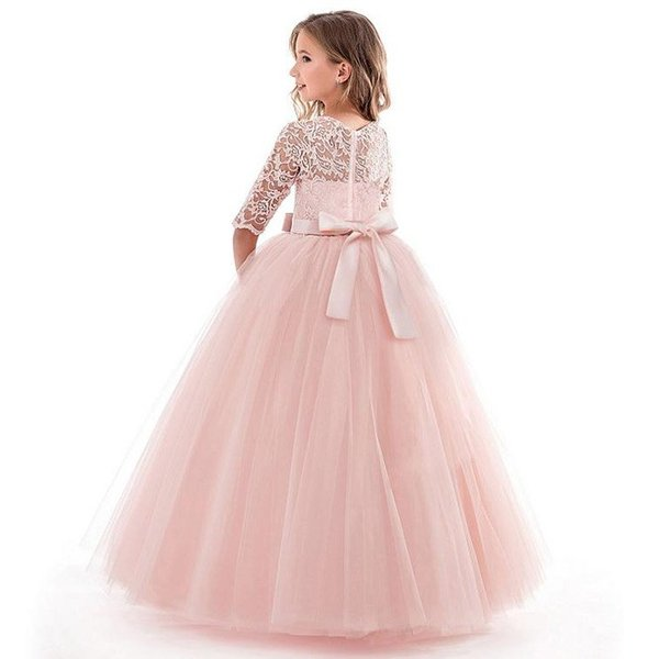 e936732d4f364 ... 子供ドレス ロング チュール ワンピース レース ドレス ピアノ発表会 女の子 二次会 子ども 花嫁 結婚式 ...
