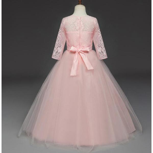 3f7e76af9d08f ... 子供ドレス ロング チュール ワンピース レース ドレス ピアノ発表会 女の子 二次会 子ども 花嫁 結婚式