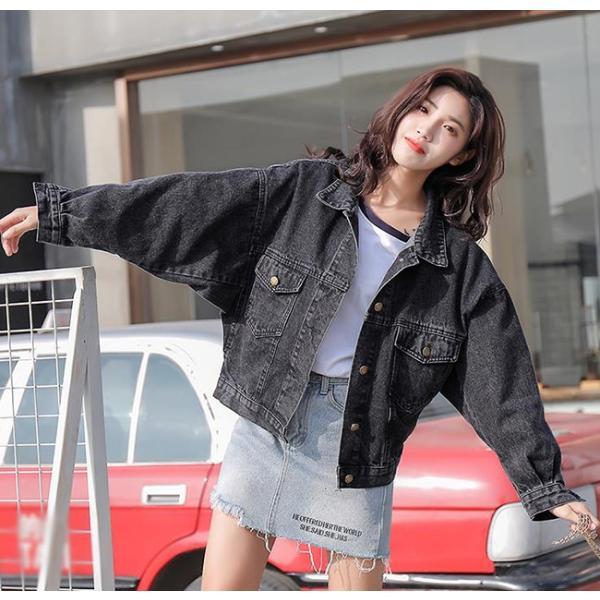 レディース ジャケット デニム デニムコート 大きいサイズ ロング丈 ゆったり 通勤 コート アウター 送料無料|anemo|05