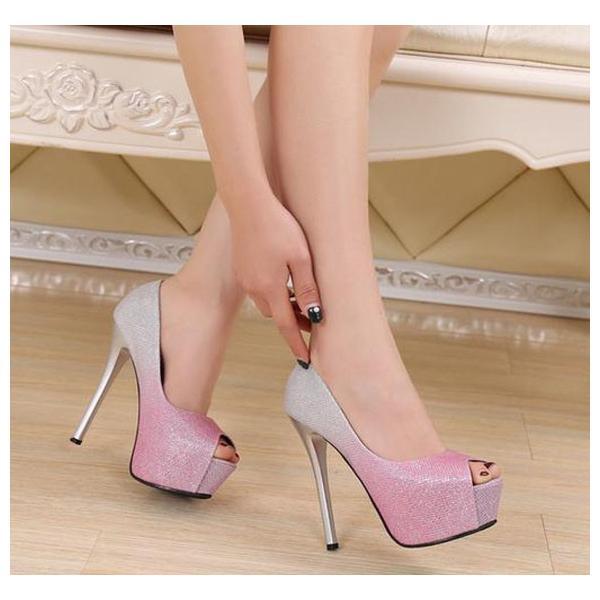 3color! 韓国ハイヒール 痛くない レディース  歩きやすい 美脚  疲れない 靴 シューズ  ヒール14cm  春 夏 結婚式  二次会  大きいサイズ|anemo|05