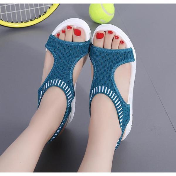 サンダル レディース スポーツサンダル 厚底 スポサン フラット スニーカーサンダル 夏 歩きやすい コンフォートサンダル 新作 カジュアル レディース靴 sandal|anemo|06