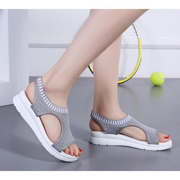 サンダル レディース スポーツサンダル 厚底 スポサン フラット スニーカーサンダル 夏 歩きやすい コンフォートサンダル 新作 カジュアル レディース靴 sandal|anemo|10