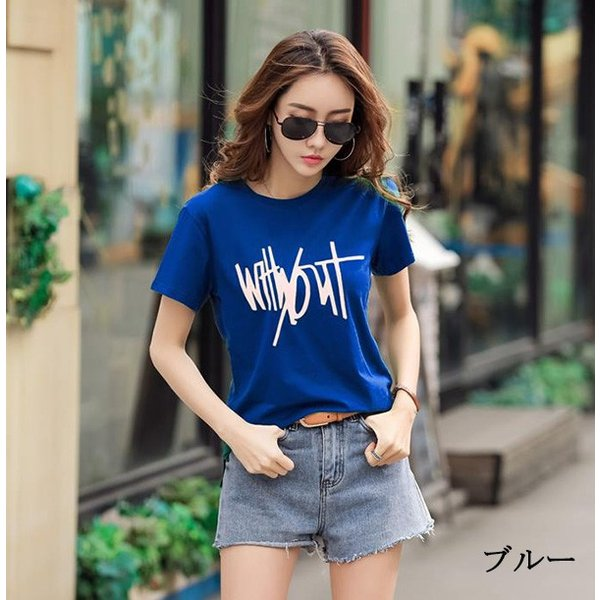 トップス レディース 春夏 大きいサイズ Tシャツ 無地 ロゴ 大きいTシャツ レディース半袖カットソー Tシャツ  《ネコポス便/代引不可》|anemo|11