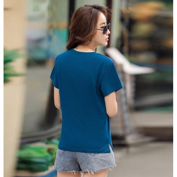 トップス レディース 春夏 大きいサイズ Tシャツ 無地 ロゴ 大きいTシャツ レディース半袖カットソー Tシャツ  《ネコポス便/代引不可》|anemo|13