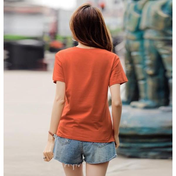トップス レディース 春夏 大きいサイズ Tシャツ 無地 ロゴ 大きいTシャツ レディース半袖カットソー Tシャツ  《ネコポス便/代引不可》|anemo|06