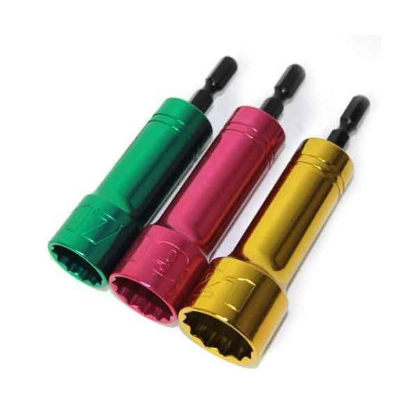 電動ドライバー ドリル用(E-VALUE)電気ドリル用ロングソケット3本組 17mm19mm21mm