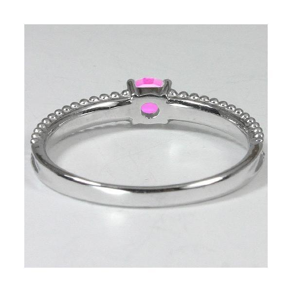リング レディース 人気 指輪 ピンクサファイア 4ミリ プラチナ PT900 エンゲージリング 婚約指輪 ピンキー 9月誕生石 カラーストーン