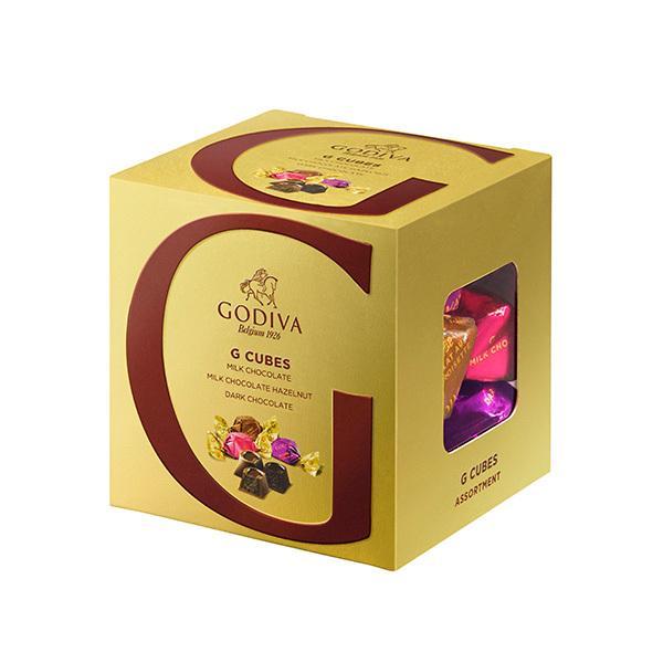 GODIVA ゴディバ G キューブ アソートメント チョコレート 9粒 ミルク ダーク ヘーゼルナッツ