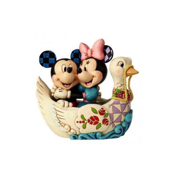 エネスコ ディズニートラディション ディズニー フィギュア ジムショア 恋人たちミニーとミッキーのスワンボートフギュア fig-4059744|angel-1948