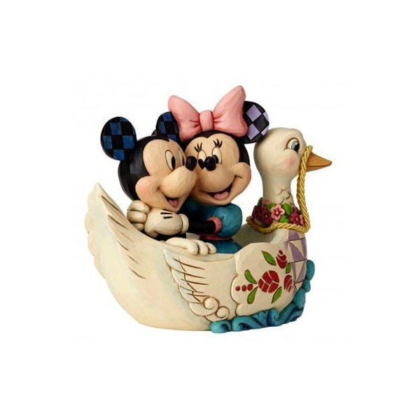 エネスコ ディズニートラディション ディズニー フィギュア ジムショア 恋人たちミニーとミッキーのスワンボートフギュア fig-4059744|angel-1948|02