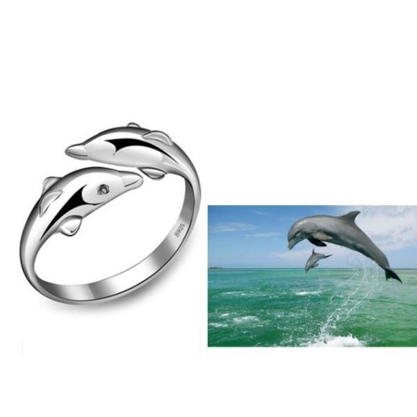 指輪 レディース リング シルバー925 イルカ ハワイアン 海 サイズフリー アレルギー|angela-web|02