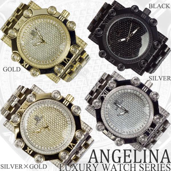Captain Bling 男性用メンズ腕時計 コーネリア Mens ラグジュアリー チェック格子柄 メタル ウォッチ うでどけい ヴィヴィアン ロレックス 好きにも angelina