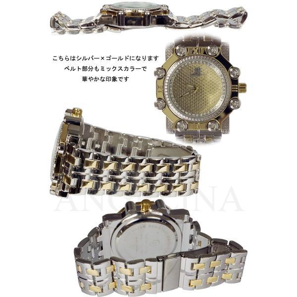 Captain Bling 男性用メンズ腕時計 コーネリア Mens ラグジュアリー チェック格子柄 メタル ウォッチ うでどけい ヴィヴィアン ロレックス 好きにも angelina 02
