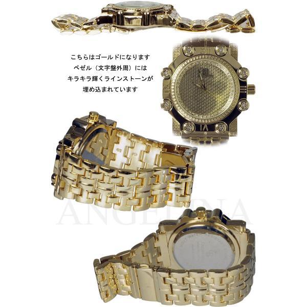 Captain Bling 男性用メンズ腕時計 コーネリア Mens ラグジュアリー チェック格子柄 メタル ウォッチ うでどけい ヴィヴィアン ロレックス 好きにも angelina 04