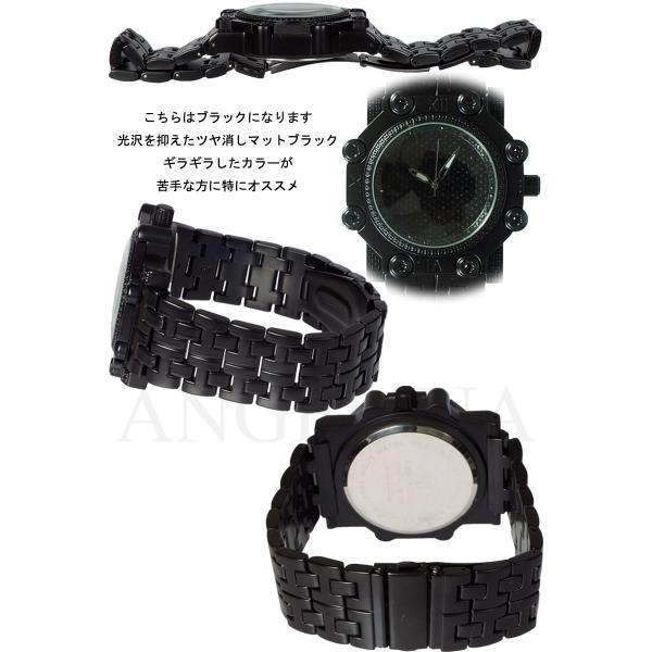 Captain Bling 男性用メンズ腕時計 コーネリア Mens ラグジュアリー チェック格子柄 メタル ウォッチ うでどけい ヴィヴィアン ロレックス 好きにも angelina 05