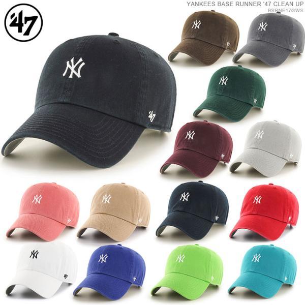 47 Brand キャップ スナップバック ヤンキース NEW YORK YANKEES BASERUNNER '47 CLEAN UP バックベルト キャップ angelitta