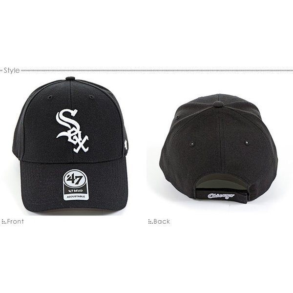 47 Brand キャップ WHITE SOX HOME '47 MVP/47ブランド バックベルト/MLB キャップ/WHITE SOX/シカゴ/ホワイトソックス/ angelitta 02