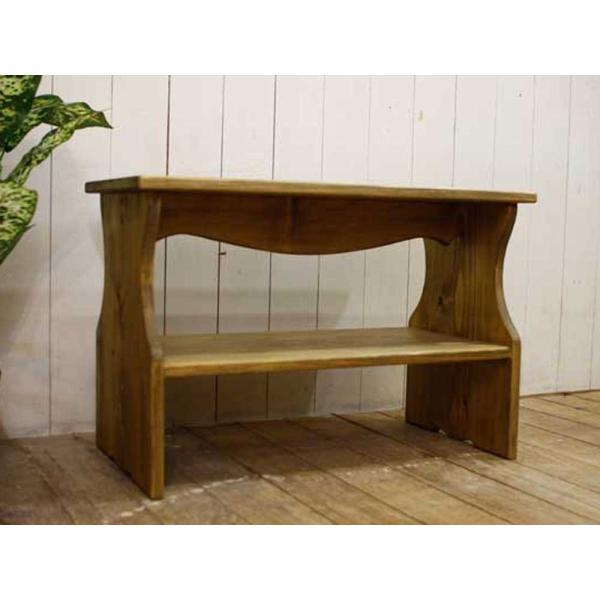 ベンチシェルフ アンティークブラウン w60d30h40cm 棚付き 木製 ひのき 受注製作|angelsdust|02