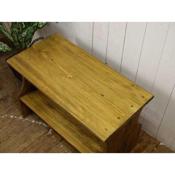 ベンチシェルフ アンティークブラウン w60d30h40cm 棚付き 木製 ひのき 受注製作|angelsdust|03