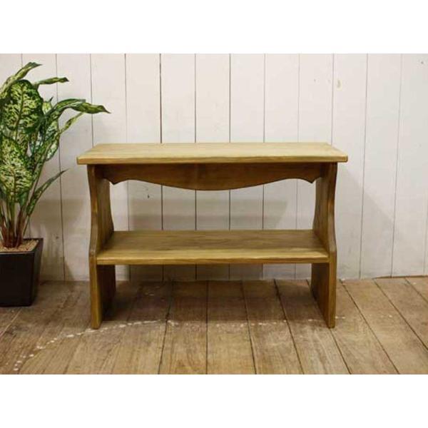 ベンチシェルフ アンティークブラウン w60d30h40cm 棚付き 木製 ひのき 受注製作|angelsdust|04