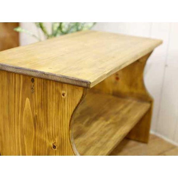 ベンチシェルフ アンティークブラウン w60d30h40cm 棚付き 木製 ひのき 受注製作|angelsdust|05