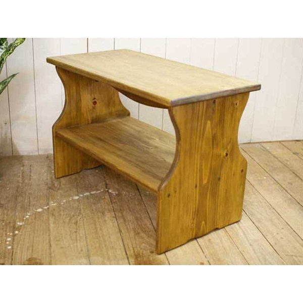ベンチシェルフ アンティークブラウン w60d30h40cm 棚付き 木製 ひのき 受注製作|angelsdust|06