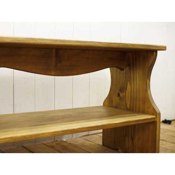 ベンチシェルフ アンティークブラウン w60d30h40cm 棚付き 木製 ひのき 受注製作|angelsdust|07