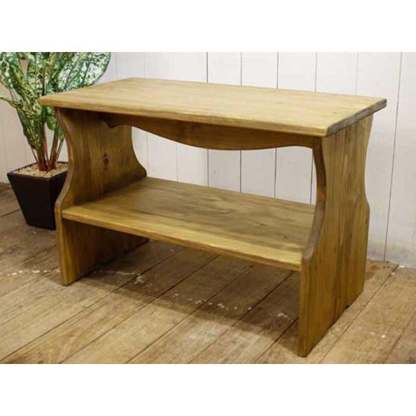 ベンチシェルフ アンティークブラウン w60d30h40cm 棚付き 木製 ひのき 受注製作|angelsdust|08