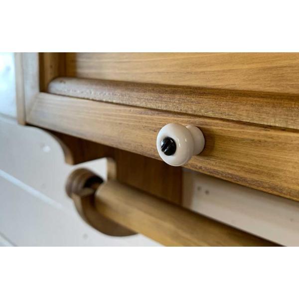キッチンペーパーホルダー 木製 ひのき 木製扉 壁かけラック レギュラーサイズ(230mm)ハンドメイド 手作り オーダーメイド アンティークブラウン 受注製作|angelsdust|18