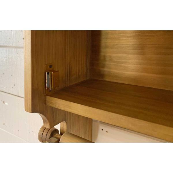 キッチンペーパーホルダー 木製 ひのき 木製扉 壁かけラック レギュラーサイズ(230mm)ハンドメイド 手作り オーダーメイド アンティークブラウン 受注製作|angelsdust|05