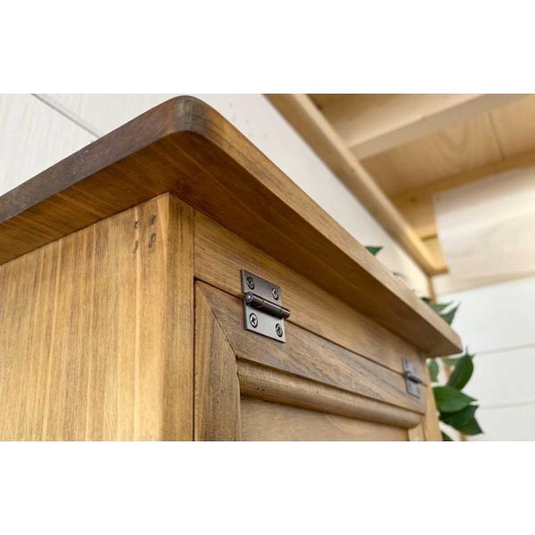 キッチンペーパーホルダー 木製 ひのき 木製扉 壁かけラック レギュラーサイズ(230mm)ハンドメイド 手作り オーダーメイド アンティークブラウン 受注製作|angelsdust|07