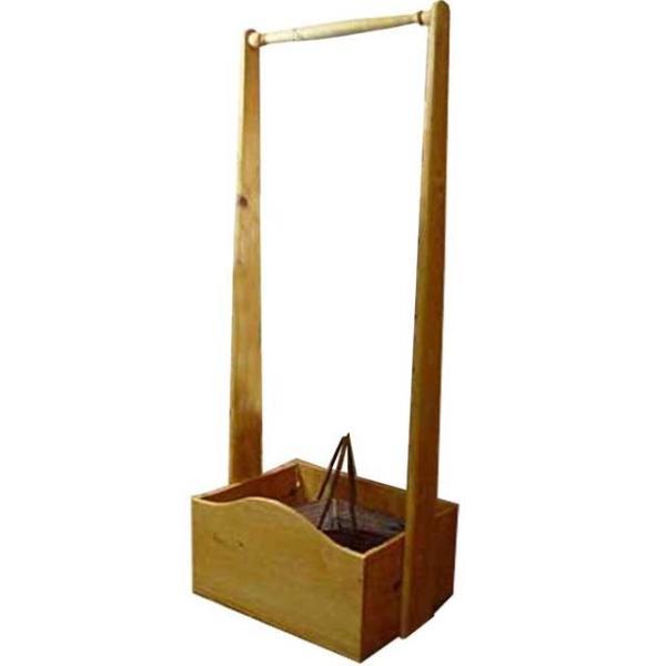 ハンガーラック ボックスつき ナチュラル w47d35h120cm 子供用 木製 ひのき 受注製作