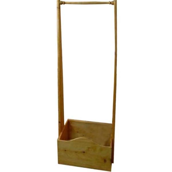 ハンガーラック ナチュラル w47d35h135cm ボックスつき 木製 ひのき 受注製作