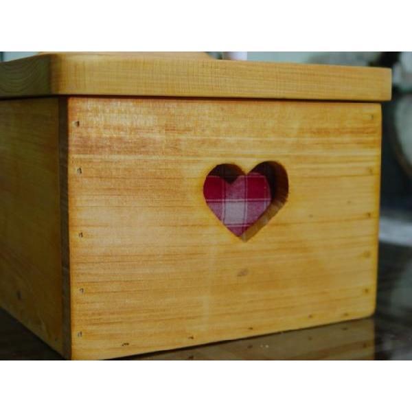 サニタリーケース カントリーチェック 赤 ナチュラル w20d15.5h17.5cm ハート 木製 ひのき 受注製作|angelsdust|04