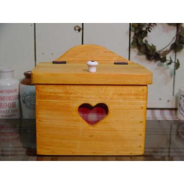 サニタリーケース カントリーチェック 赤 ナチュラル w20d15.5h17.5cm ハート 木製 ひのき 受注製作|angelsdust|06