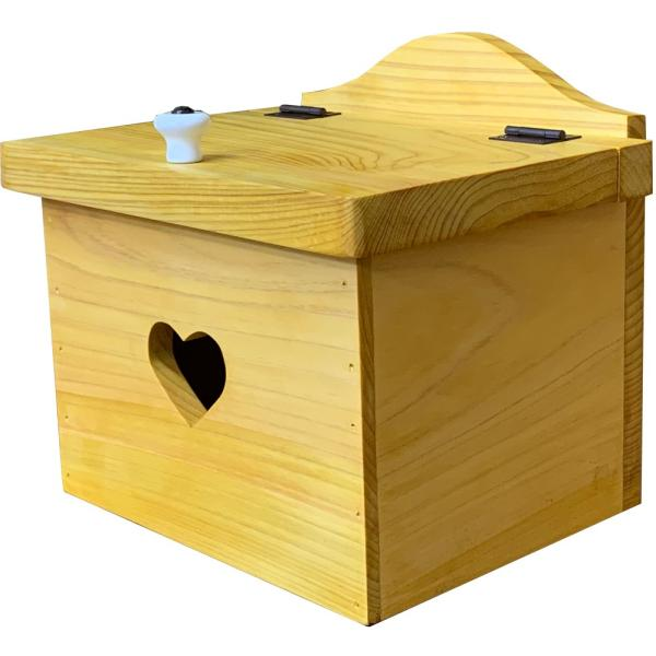 サニタリーボックス ナチュラル w20d15.5h17.5cm カントリーハート 木製 ひのき 受注製作|angelsdust