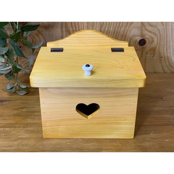 サニタリーボックス ナチュラル w20d15.5h17.5cm カントリーハート 木製 ひのき 受注製作|angelsdust|03