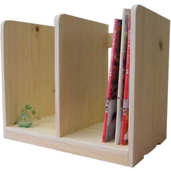 本棚 無塗装白木 w40d25h34cm ブックスタンド 木製 ひのき 受注製作|angelsdust