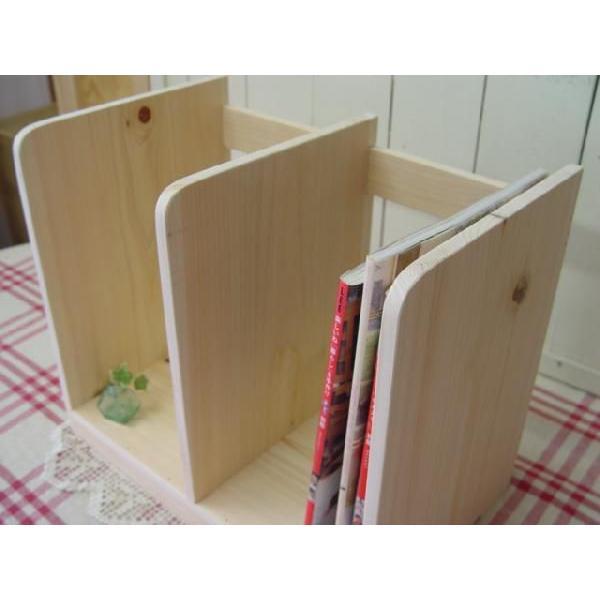 本棚 無塗装白木 w40d25h34cm ブックスタンド 木製 ひのき 受注製作|angelsdust|03