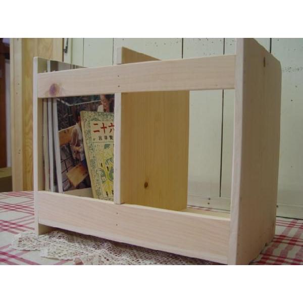 本棚 無塗装白木 w40d25h34cm ブックスタンド 木製 ひのき 受注製作|angelsdust|05