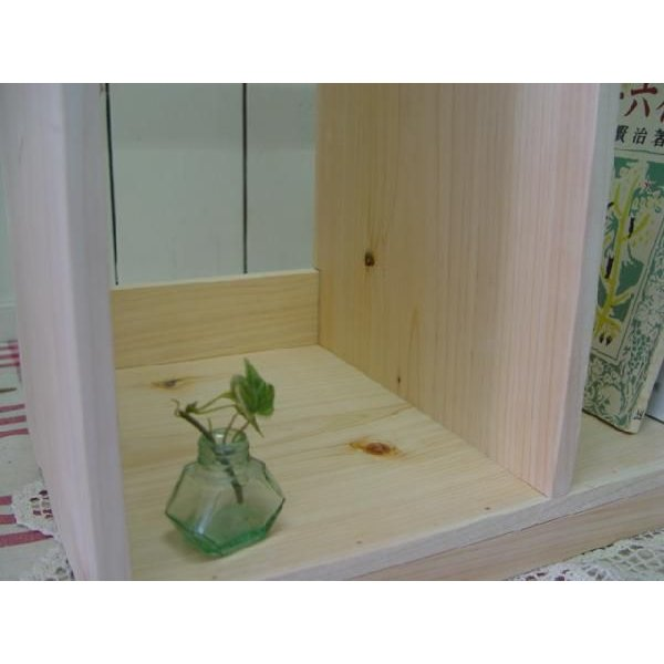 本棚 無塗装白木 w40d25h34cm ブックスタンド 木製 ひのき 受注製作|angelsdust|06